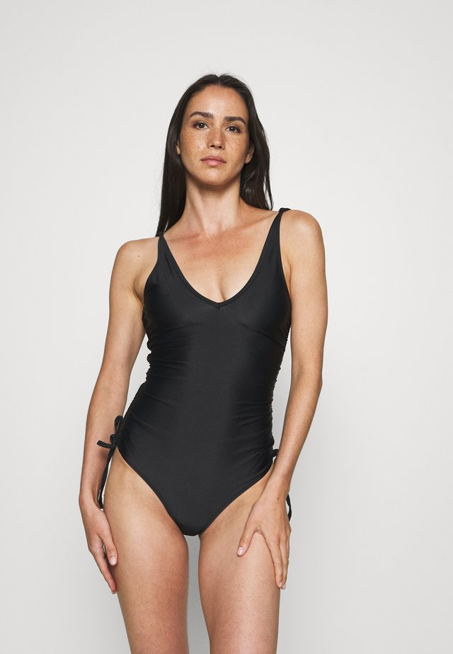 ECO NICOLA PLUNGE SWIMSUIT - Swimsuit - black