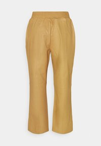 Frame Denim - GYM PANT - Leather trousers - butterscotch - 1