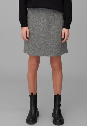 A-line skirt - middle stone melange