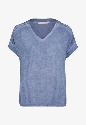 MIT GUMMIZUG - Blouse - blau