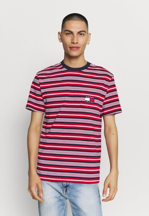 STRIPE POCKET TEE - T-shirt z nadrukiem - twilight navy
