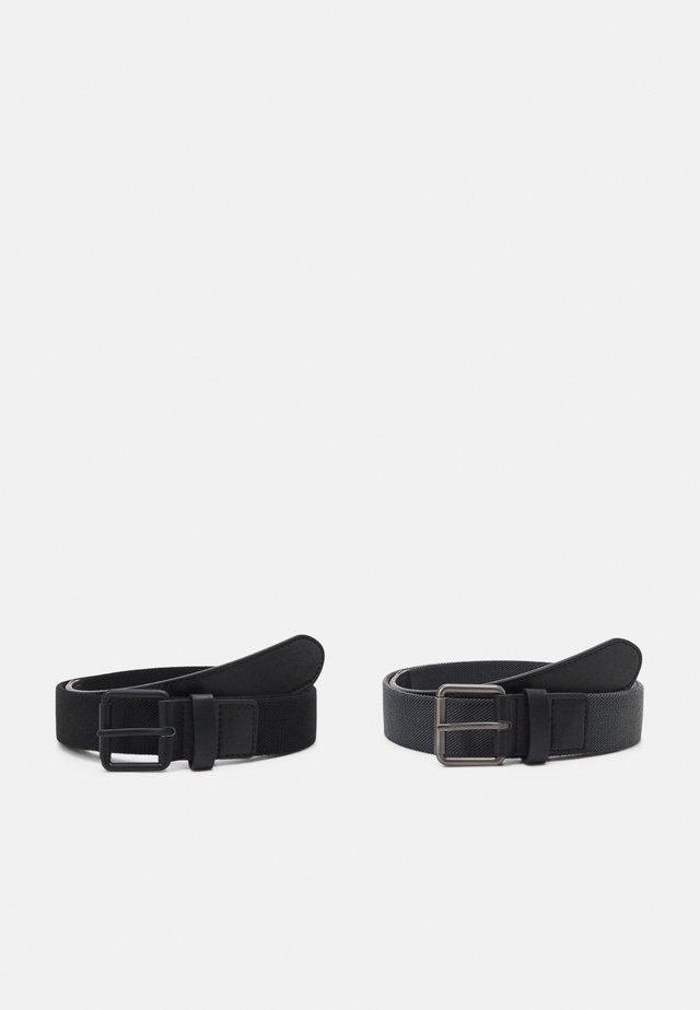 STRETCH BASIC BELT UNISEX 2 PACK - Pásek - black/charcoal