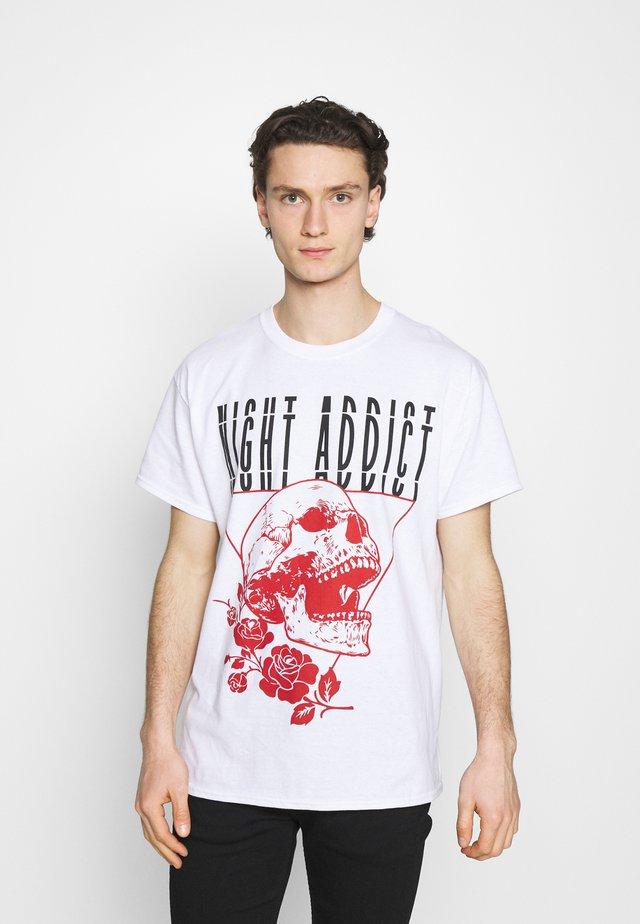 SKULL - T-shirt imprimé - white