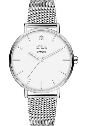S.OLIVER DAMEN-UHREN ANALOG QUARZ - Watch - silber