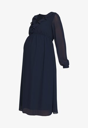 MIDI LONGSLEEVE DRESS - Day dress - navy