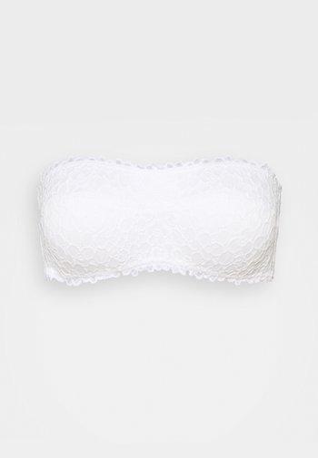 EXCLUSIVE PADDED REAL GOOD BANDEAU - Reggiseno con spalline regolabili - white