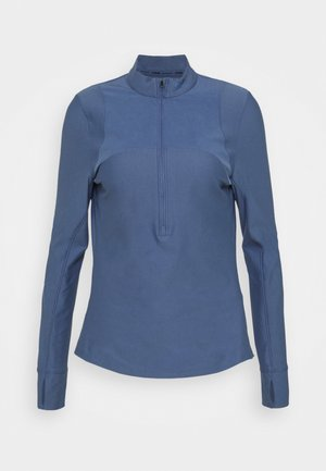 QUALIFIER HALF ZIP DAMEN - Funktionsshirt - mineral blue
