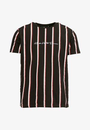 MOFFAT - T-shirt z nadrukiem - black / red