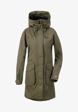 Waterproof jacket - fog green