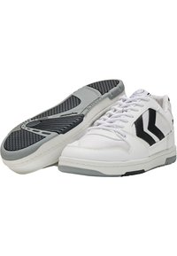 Hummel Hive - POWER PLAY VEGAN ARCHIVE - Sneakersy niskie - white/anthracite - 2