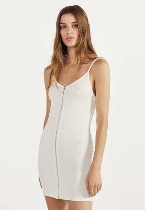 MIT REISSVERSCHLUSS  - Jerseykjoler - white