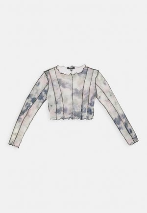 CONTRAST STITCH PRINTED CROP  - Long sleeved top - multi