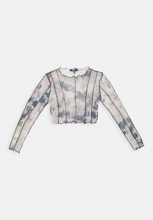 CONTRAST STITCH PRINTED CROP  - Maglietta a manica lunga - multi