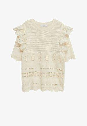 T-shirts med print - ecru