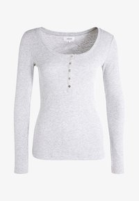 Zalando Essentials - Top s dlouhým rukávem - light grey melange - 5