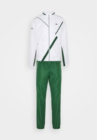 Lacoste Sport - SET TENNIS TRACKSUIT HOODED - Dres - white/green - 12