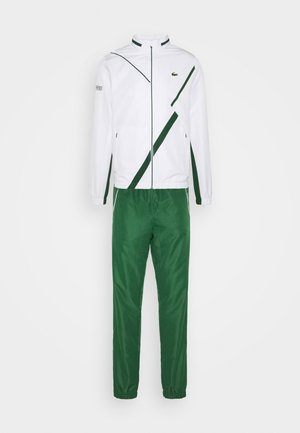 SET TENNIS TRACKSUIT HOODED - Tuta - white/green