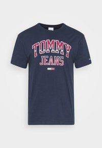 Tommy Jeans - PLAID COLLEGIATE  - T-shirts print - twilight navy - 3