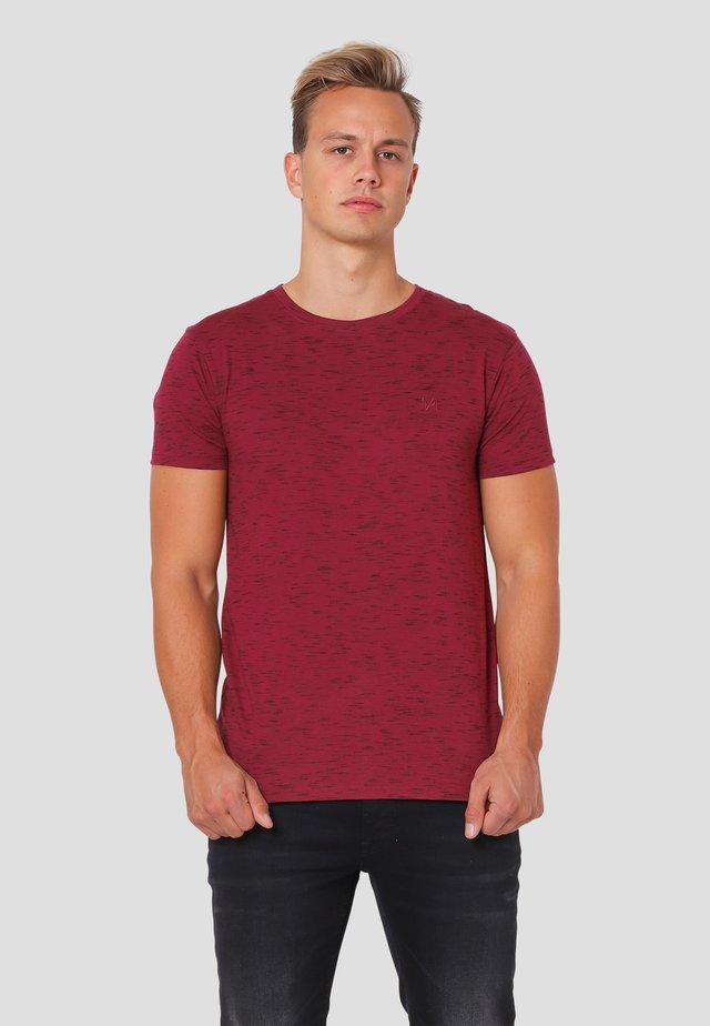 Allistar  - T-shirt print - syrah red mix