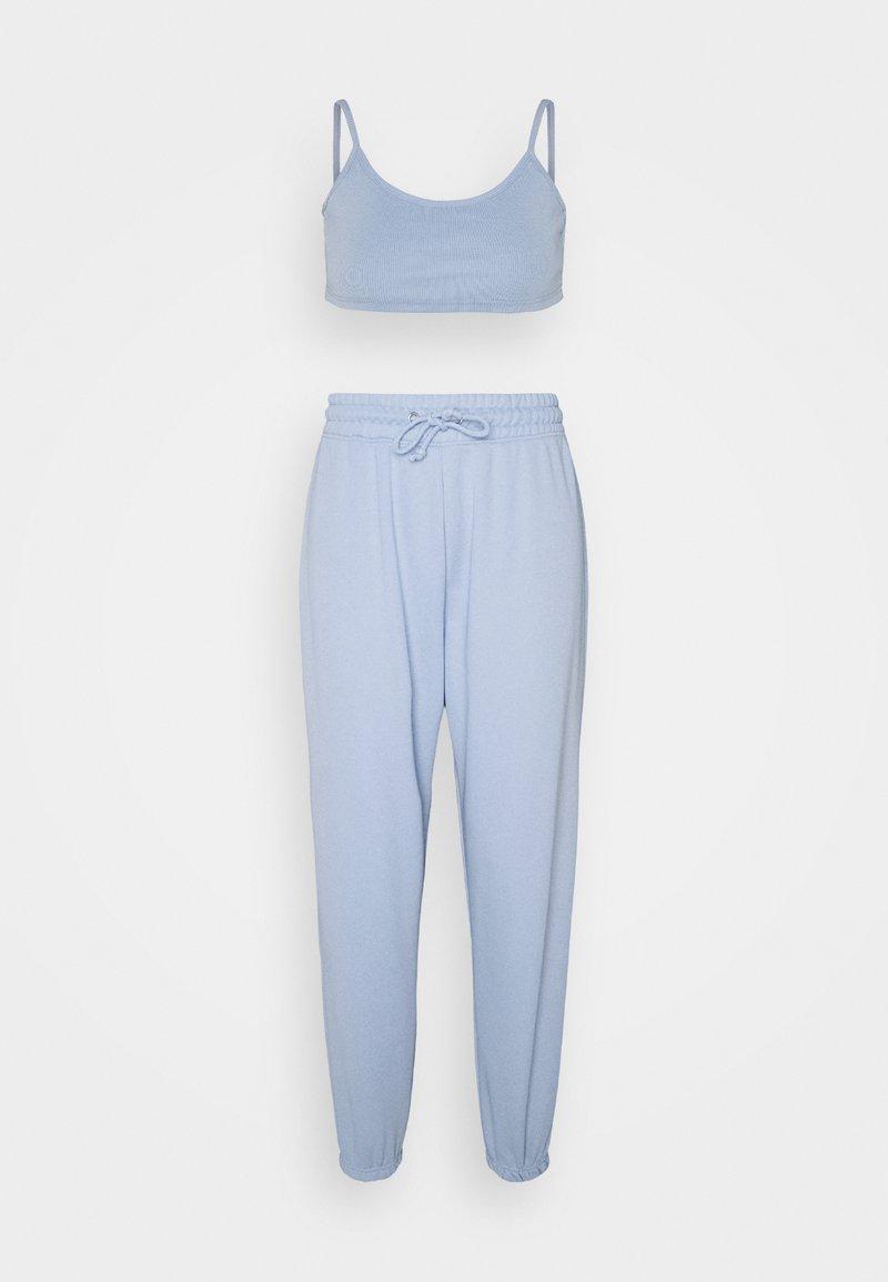 Missguided Petite - SET - Tracksuit bottoms - blue