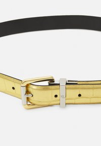 Lauren Ralph Lauren - CROC EMBOSS TWO TONE - Belte - antique gold-coloured/black - 5