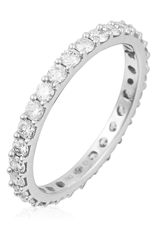 Damen WHITE GOLD AND DIAMOND 9K CERTIFIED RING - Ring