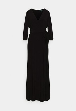 CLASSIC LONG GOWN WITH TRIM - Galajurk - black