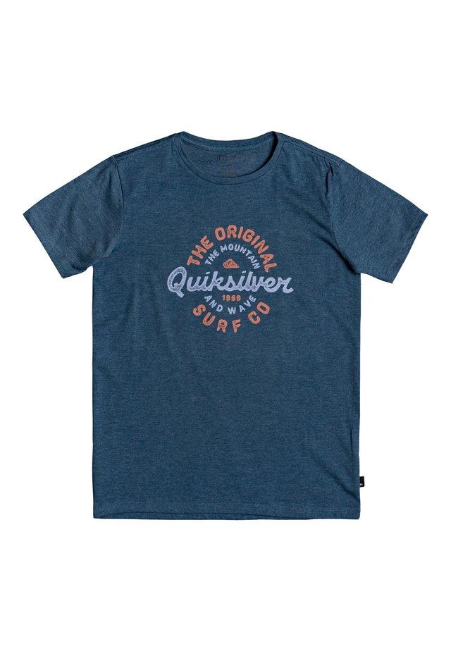 QUIKSILVER™ MOTORCYCLE EMPTINESS - T-SHIRT FÜR JUNGEN 8-16 EQBZT - Print T-shirt - majolica blue heather