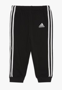 adidas Performance - COLLEGIATE TRACKSUIT BABY SET - Survêtement - black/medium greyh/white - 2