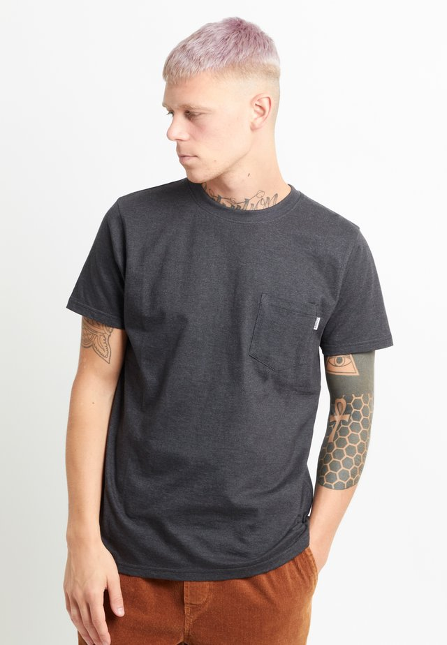 T-shirt basic - black melange