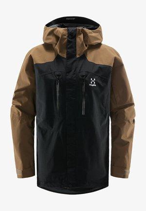 Ski jacket - true black/teak brown