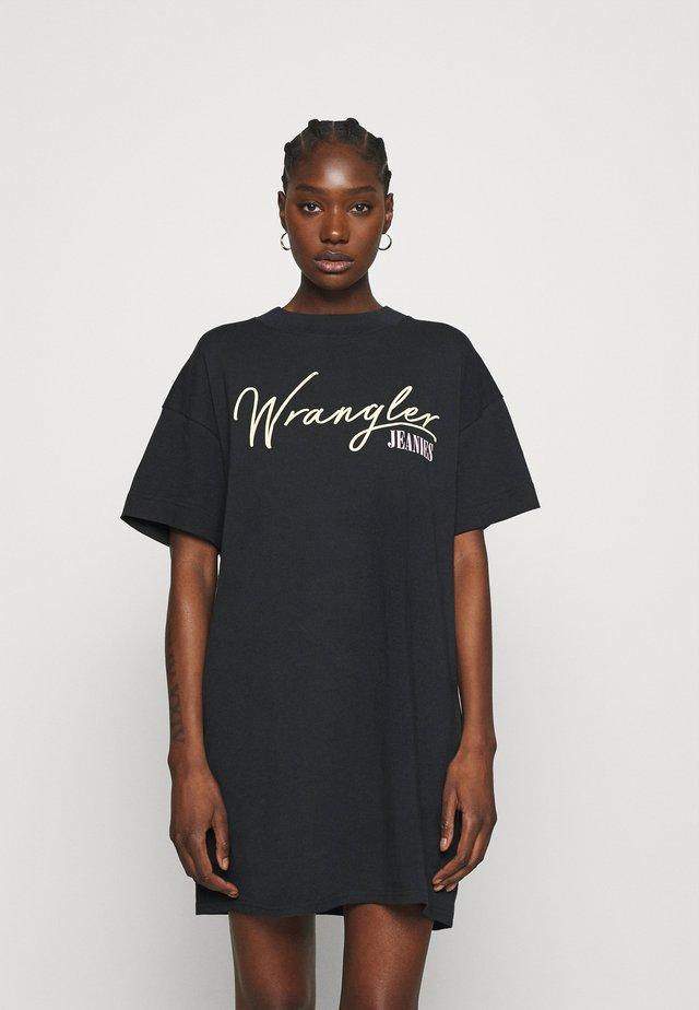 TEE DRESS - Sukienka z dżerseju - worn black