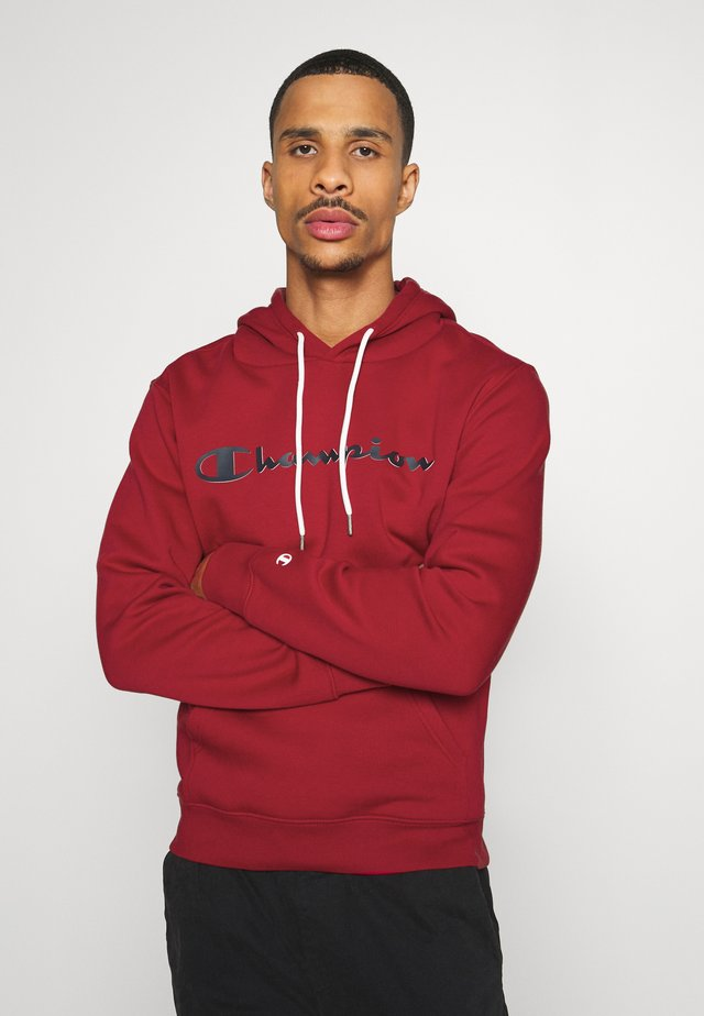 LEGACY HOODED - Kapuzenpullover - dark red