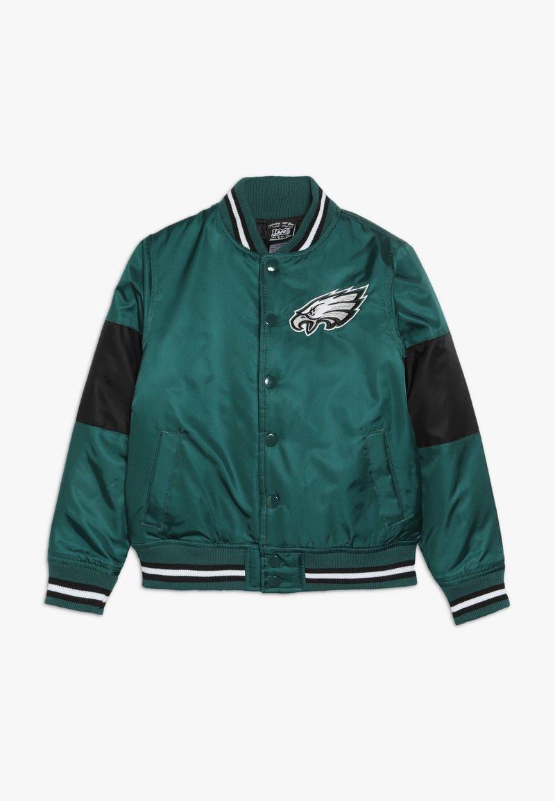Outerstuff - NFL PHILADELPHIA EAGLES VARSITY JACKET - Sportovní bunda - sport teal/black