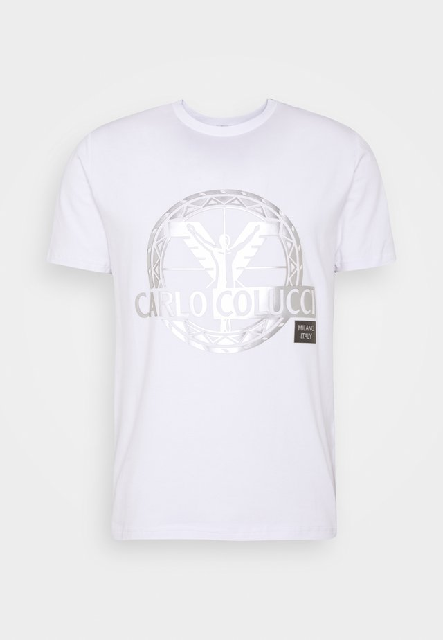 BIG LOGO - Print T-shirt - white