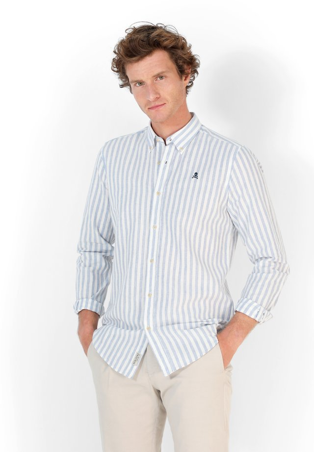 JON BD - Camicia - blue stripes
