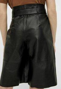 Object - OBJDANA - Leather trousers - black - 2