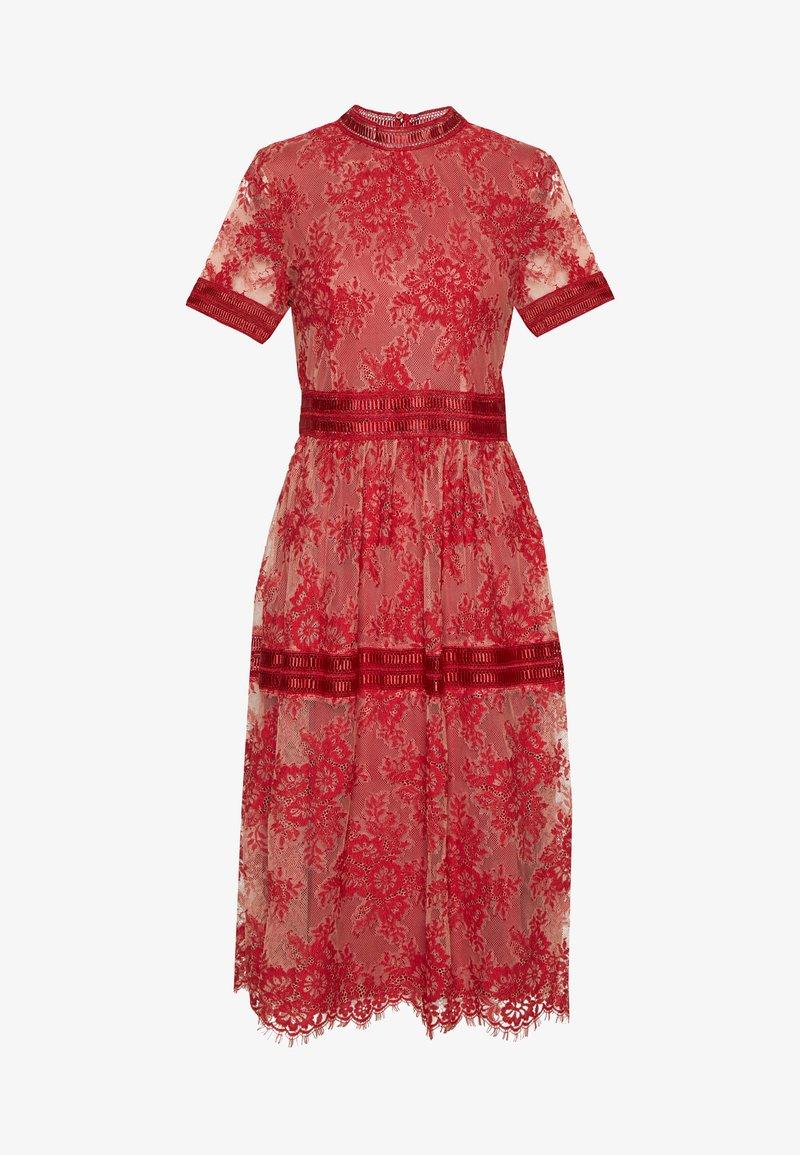 Vila - VIDIXIE MIDI DRESS - Sukienka koktajlowa - flame scarlet