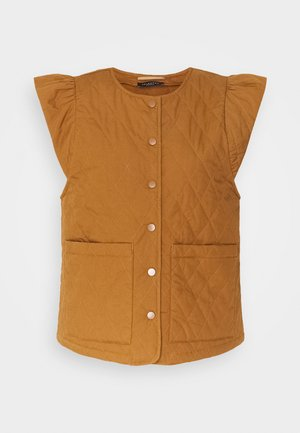 SLFBERTA QUILTED VEST  - Chaleco - toffee