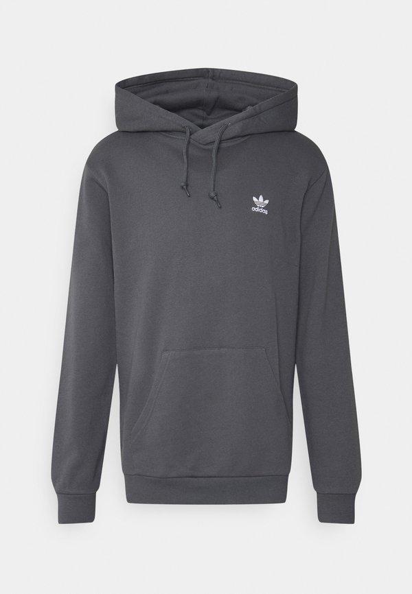 adidas Originals ESSENTIAL HOODY UNISEX - Bluza z kapturem - grey/szary Odzież Męska GMUE