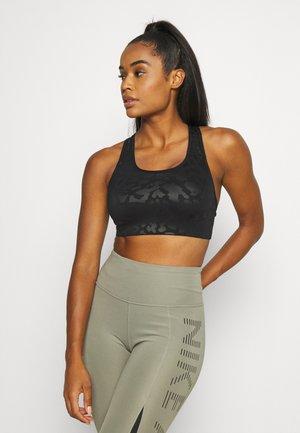 LEOPARD SHINE BRA - Sport-bh met medium support - black