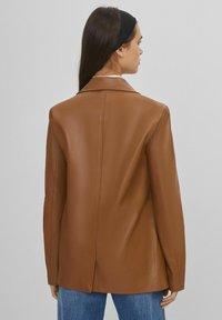 Bershka - Faux leather jacket - brown - 2