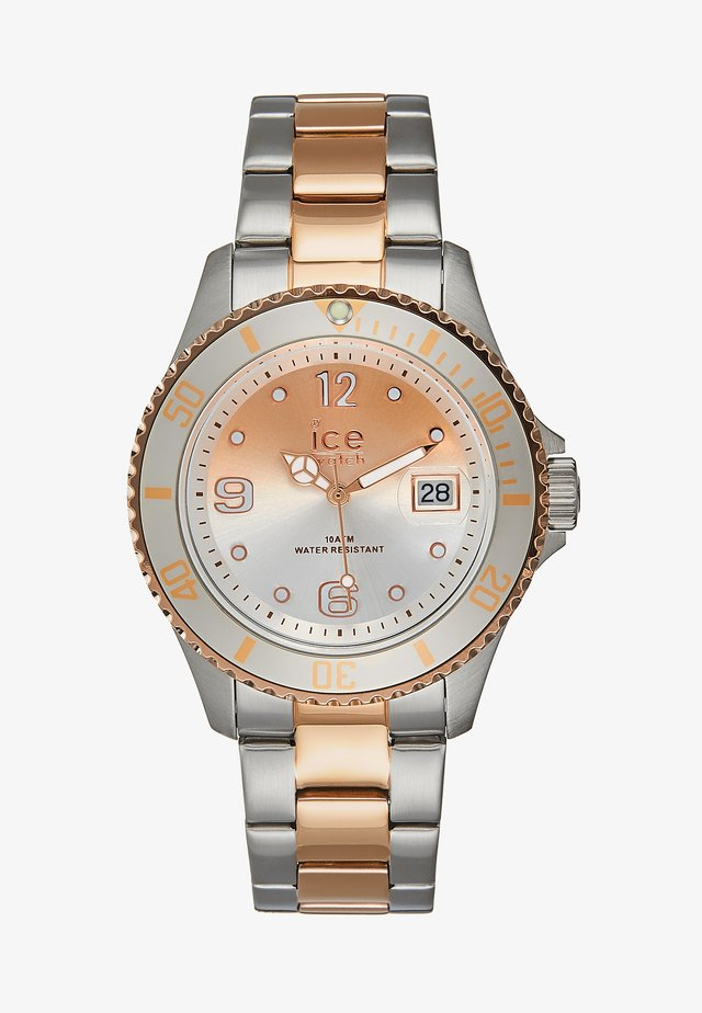 Montre - silver-coloured/rosègold-coloured