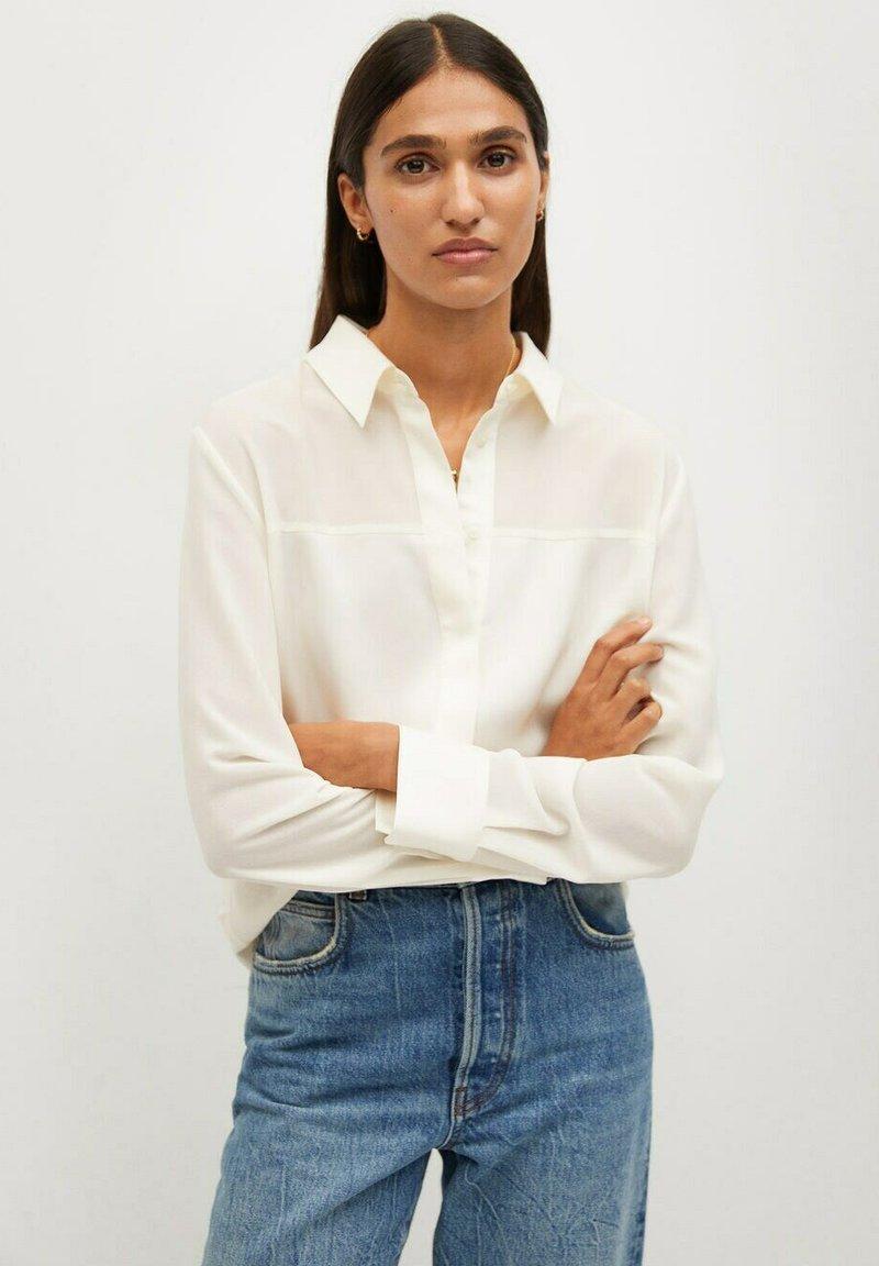 Mango - BIMA - Button-down blouse - ecru