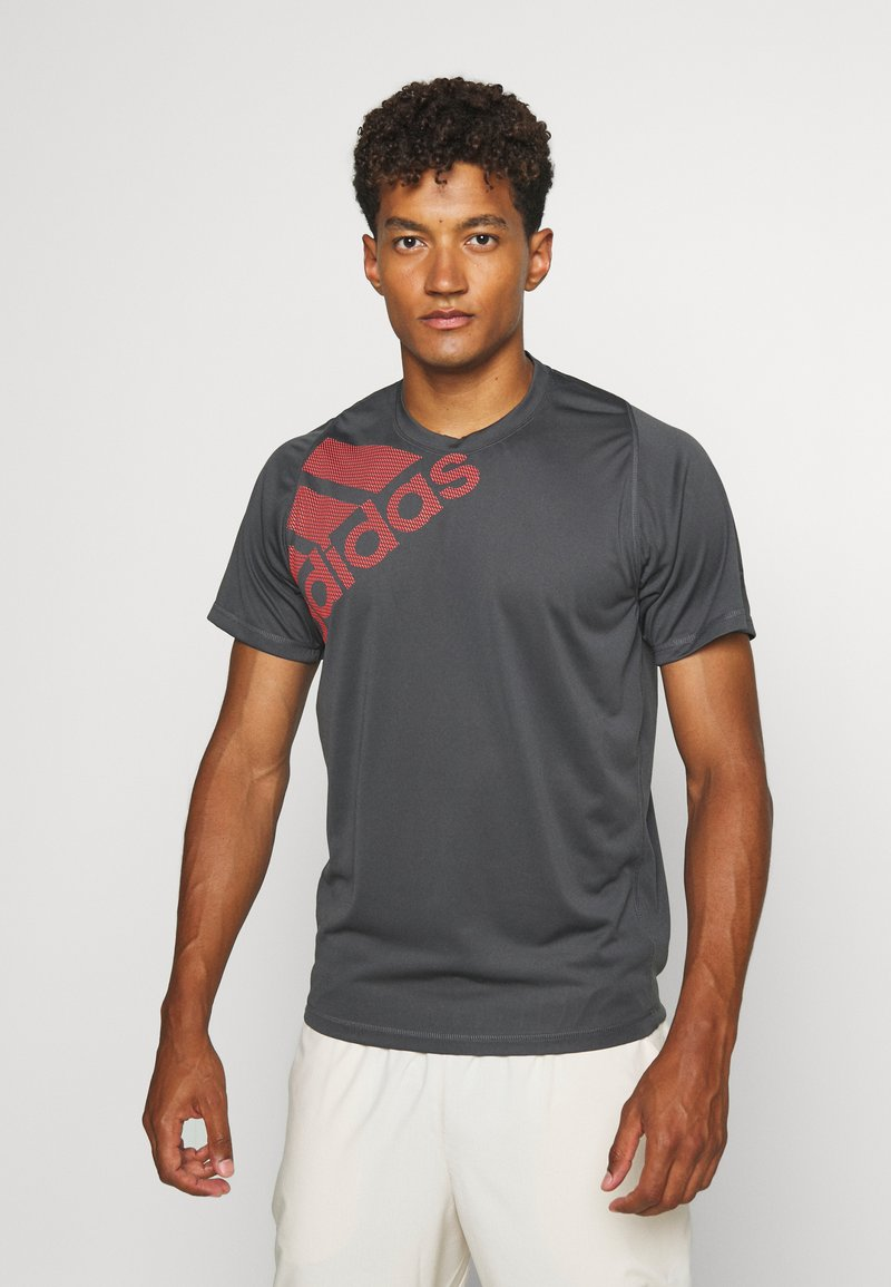 adidas Performance - T-shirt print - grey