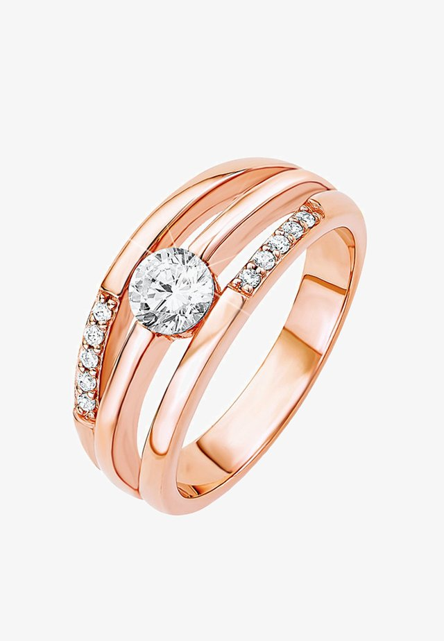 Ring - rosegold-colored