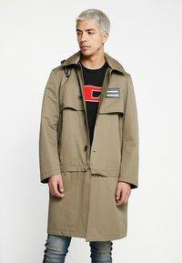Diesel - J-KODORY JACKET - Short coat - beige/olive - 0