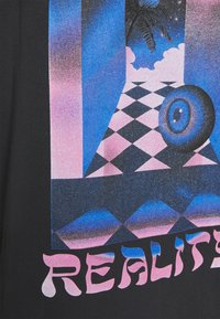 Topman - WARPED TEE - T-shirt med print - black - 5