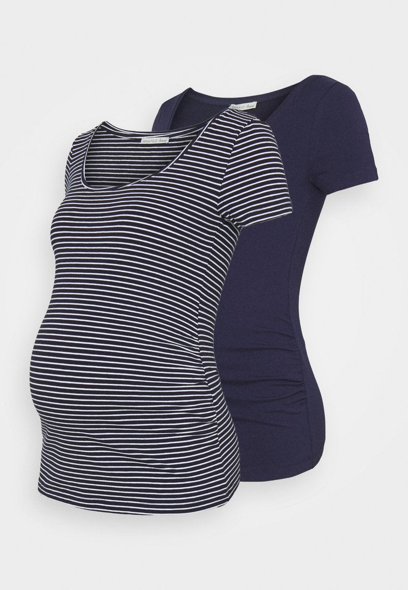 Anna Field MAMA - 2 PACK - PRINT - T-SHIRT - Print T-shirt - dark blue/multi-coloured