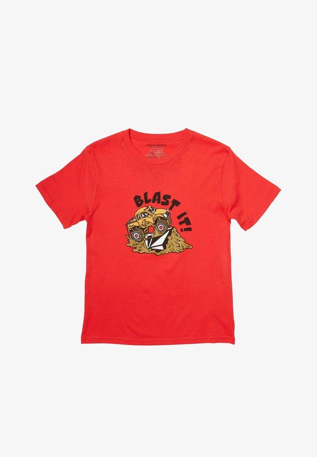 BLAST IT  - Print T-shirt - fiery_red